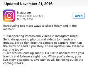 Another Instagram Update Makes the App More Like Snapchat – Family
